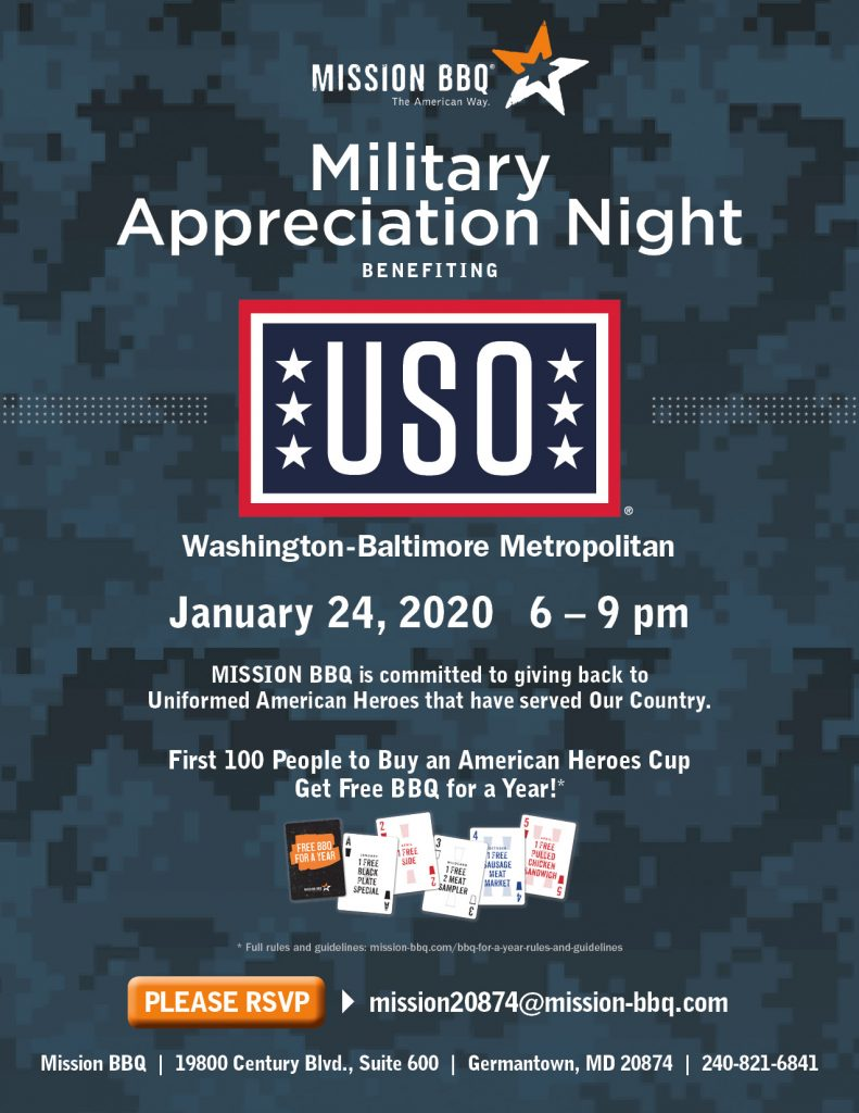 Flyer about Military Appreciation Night.
