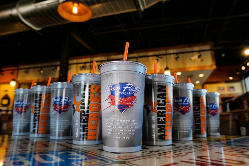 Mission BBQ's American Hero Cups.